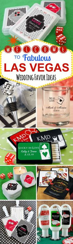 40 Fabulous Las Vegas Wedding Favor Ideas - whether you want to bring some Vegas flair to your hometown nuptials or you are getting married in the City of Lights, you'll love these ideas!