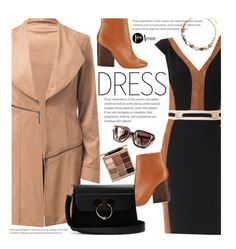 """""""On Trend: Two-Tone Dresses"""" by beebeely-look ❤ liked on Polyvore featuring Joseph Ribkoff, Tory Burch, Steve Madden, J.W. Anderson, Stila, dress, StreetChic, premiereavenue, JosephRibkoff and rtwotonedress"""