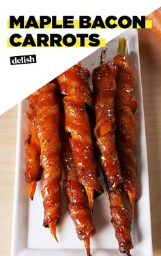Bacon Carrots Maple Bacon Carrots are the last-minute app you need. Get the recipe at .Maple Bacon Carrots are the last-minute app you need. Get the recipe at . Carrot Recipes, Bacon Recipes, Vegetable Recipes, Cooking Recipes, Healthy Recipes, Recipes For Carrots, Carrot Bacon Recipe, Vegetable Appetizers, Milk Recipes