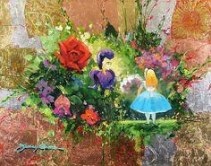 Alice e as flores fine art