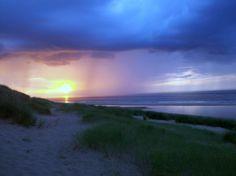 Sunset through the storm, Gun Hill.