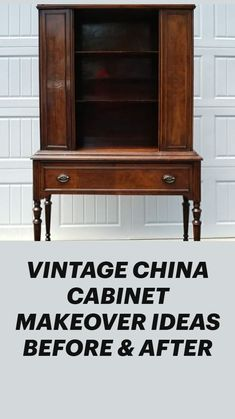 Diy Home Furniture, Recycled Furniture, Furniture Projects, Furniture Making, Furniture Makeover, Vintage Furniture, Painted Furniture, Diy Home Decor, Vintage China Cabinets