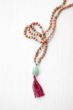 Mala necklaces are used for meditation during your yoga practice. Plus they are super cute!!