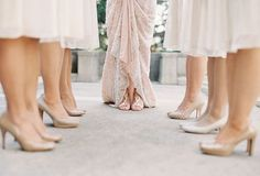 simplistic but gorgeous bride & bridesmaid photo for some detail love | bridal party photos