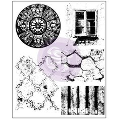 Prima - Cling Stamps - Old Town