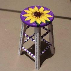 Cool Painted Stool Idea (12)