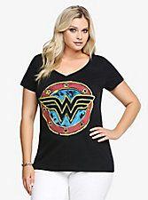 Wonder Woman Tee, DEEP BLACK