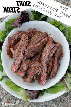 Best Marinade for Grilling Skirt Steak:  soy sauce, dijon mustard, red wine vinegar, extra-virgin olive oil, molasses, garlic, onion, skirt steak