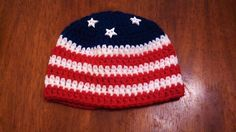 Ravelry: 4th of July Beanies pattern by Butterfly's Creations