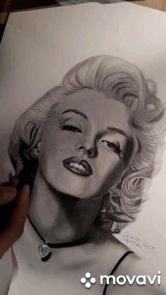 Die letzten Details 🎨✌  Falls Du auch ein gezeichnetes Portrait von mir haben möchtest, dann klicke einfach auf den Webseite Link hier:  www.saschaschuerz.com  für mehr Informationen, vielen Dank. . Marilyn Monroe Drawing, Drawing Tutorials For Beginners, Portrait, Sketches, Actors, Black And White, Abstract, Celebrities, Drawings