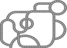 Kids children race car track road vinyl wall decal by wallinspired Race Car Room, Race Car Track, Vinyl Wall Decals, Wall Stickers, Kids Garage, Childrens Wall Decals, Doodle Wall, Car Bedroom, Love Wallpaper