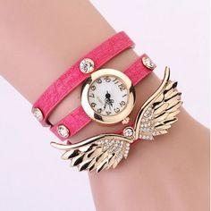 Relógio Pulseira Asa Dourada