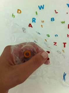 Bubble Wrap pop... strengthen fingers and learn ABCs by popping matching uppercase and lowercase letters!!!