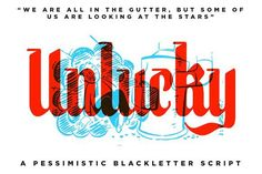 Unlucky - BlackLetter Font by RetroSupply Co. on @creativemarket