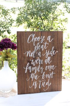 Rustic Wooden Wedding Seating Sign // Choose a by ThePaperWalrus