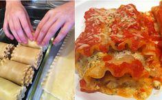 Spinach and Mushroom Lasagna Roll Ups are fun to make!