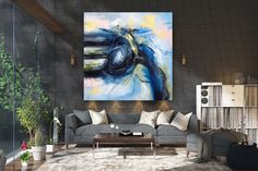Items similar to Large Abstract Painting on Canvas,Large Painting on Canvas,oil hand painting,painting canvas art,home decor wall on Etsy Modern Oil Painting, Large Painting, Painting Canvas, Modern Wall Art, Large Wall Art, Modern Decor, Oversized Canvas Art, Large Canvas, Gold Canvas
