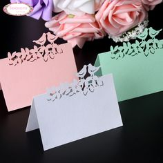 2016 Hot selling 40pcs Love Birds Animals Cute Party Favors Supplies Wedding Decoration Laser Cut Party Table Name Place Cards-in Event & Party Supplies from Home, Kitchen & Garden on Aliexpress.com | Alibaba Group