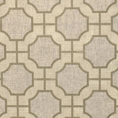 Prints Imperial Gates 5190 in Cream and Champagne on Linen PJ
