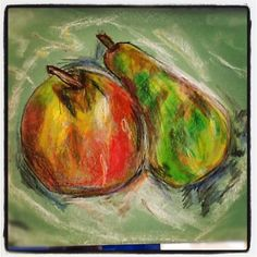 Year 10 oil pastel fruit drawing (ms Holden)