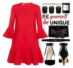 """""""Unique by Sasoza"""" by sasooza ❤ liked on Polyvore featuring Nine West, Yves Saint Laurent, Ann Taylor, Valentino and Byredo"""