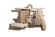 """""""Suitcase"""" by Alexis Akrithakis 3d Wall Art, Wall Art Decor, Kurt Schwitters, Greek Art, Assemblages, Wood Working For Beginners, Driftwood Art, Street Art Graffiti, Land Art"""