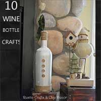 lots of wine bottle crafts