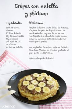 Crêpes de chocolate y Nutella