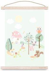 poster forest friends pastel | Kinderkamer posters