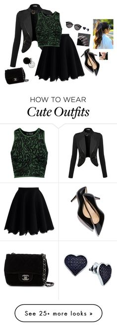 """Cute Formal Outfit"" by hanakdudley on Polyvore featuring Chicwish, Opening Ceremony, Chanel, Yves Saint Laurent, BillyTheTree, women's clothing, women, female, woman and misses"