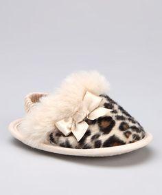 """Baby Deer"" Leopard Slipper"