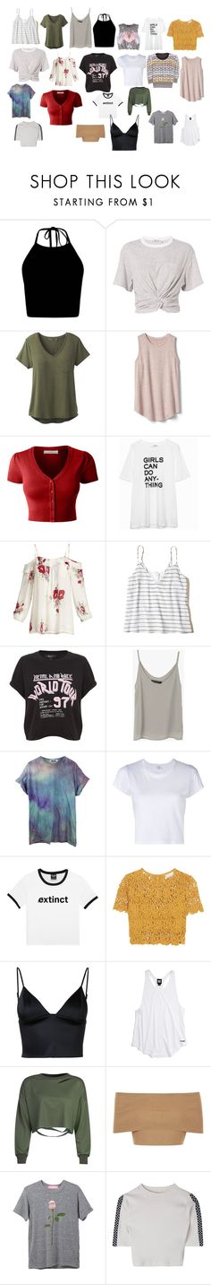 """""""into you"""" by lilymadoxx on Polyvore featuring T By Alexander Wang, prAna, Gap, LE3NO, Joie, Hollister Co., Forever 21, RE/DONE, Miguelina e Ivy Park"""