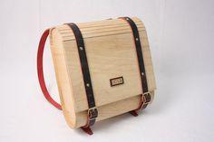 Resultado de imagen para mochilas en cuero y madera