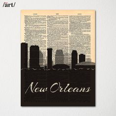 Florence Italy City Skyline Dictionary Art Print / Cityscape Poster / Travel Art Decor Hand drawn city skyline art, printed on up-cycled Cleveland City, Atlanta City, Chicago City, Pittsburgh City, Baltimore City, Newcastle England, Leicester England, Bristol England, Liverpool England