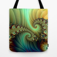 Another Secret Place abstract Fractal Art Tote Bag - printed Tote Bag with the Fantasy Design on both Sides.