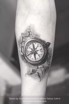 Compass tattoo by Sunny Bhanushali at Aliens Tattoo, Mumbai www.alienstattoos.com #tattoo #tattoos #alienstattoos #alienstattoo #sunnybhanushali #mumbaitattoo #compass #compasstattoo #map #worldmap #bodyart