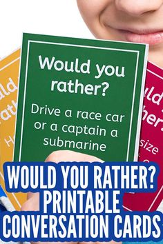 Would You Rather For Kids: A Fun, Family Conversation Game - Spiel Would You Rather Game, Would You Rather Questions, This Or That Questions, Quick Ice Breaker Games, Quick Games, Free Games, Conversation Cards, Conversation Starters, Icebreaker Activities