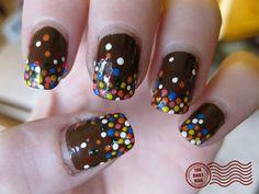 Chocolate Sprinkle nails