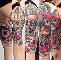 By Louis Lacourt (Ravenink Tattoo Club) #raveninktattooclub #louislacourt #paris #tattoo #ink #tatouage
