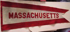 "Rare Original c1930s University of Massachusetts 41"" Pennant UMASS please retweet"