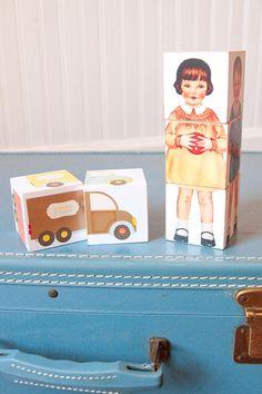 paper doll blocks...a great diy project