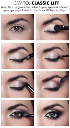 When it comes to eye make-up you need to think and then apply because eyes talk louder than words. The type of make-up that you apply on your eyes can talk loud about the type of person you really are. It doesn't really matter if y Eye Makeup Tips, Makeup Goals, Skin Makeup, Makeup Ideas, Makeup Tutorials, Makeup Tricks, Makeup Products, Eye Makeup For Hazel Eyes, Makeup For Hooded Eyes