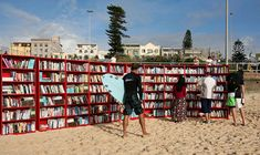 This was a one day affair but nonetheless a clever community library implementation. On Bondi beach—one of Australia's most famous beaches—IKEA set up 30 of their bookcases to offer bookworms thousands of books to swap with one of their own, or offer a gold coin donation that went to The Australian Literacy and Numeracy Foundation. www.dailymail.co.uk