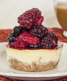 Almond crusted breakfast cheesecake
