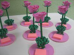 Paty Artesanato em E.V.A: Caneta flor com bloquinho.