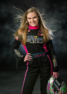 I like the idea of being in the race suit, but not the hair blowing part. Indy Car Racing, Dirt Track Racing, Car Senior Pictures, Women Drivers, Racing Quotes, Car Racer, Sprint Cars, Senior Girls, Race Day