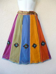 Hey, I found this really awesome Etsy listing at https://www.etsy.com/listing/165326363/vintage-ethnic-skirt-skirt-with-mirrors