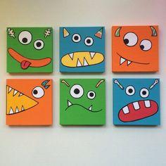 Monster Art Kinder Monster Art Kinder Monster Wall Art Boys Room Decor Monster N . - Monster Art Kinder Monster Art Kinder Monster Wall Art Boys Room Decor Monster N …, - Monster Room, Monster Nursery, Monster Art, Kids Canvas Art, Small Canvas Art, Boy Decor, Boys Room Decor, Bedroom Boys, Room Kids