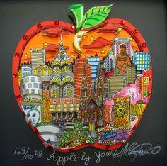 charles fazzino art | apples