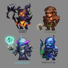 I drew some of the end game armors from Terraria